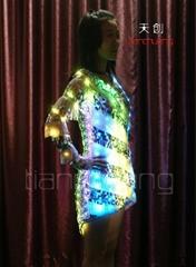 LED发光裙子/促销发光服/LED展会发光裙子