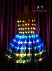 LED發光裙子/熒光禮服/發光抹胸短裙