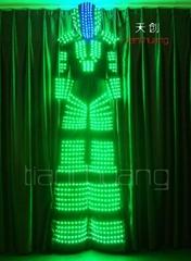 DMX512  Full color LED Robot Suit, Tron Dance robot, Light Up Robot