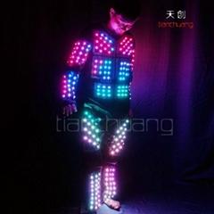 LED发光舞台服装/LED舞台表演服/LED发光跳舞服