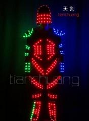 LED发光夹克/天创荧光服/电光舞蹈服