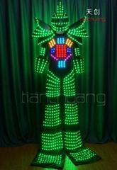 高跷机器人发光服,发光机器人演出服