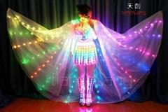 全彩精靈發光衣服,全彩翅膀演出服