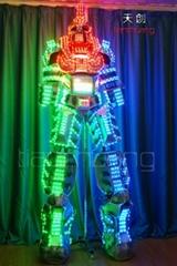 TC-0139 LED高跷机器人表演服饰, LED发光机器人