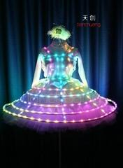 TC-0140 LED泡泡裙, LED公主裙,LED發光舞蹈服裝