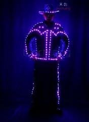 Programmable LED Light Tron Dance Suit