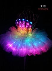 TC-0143 LED仙女裙,LED发光表演服,荧光舞蹈服饰