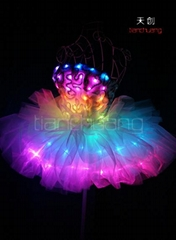 TC-0143 LED仙女裙,LED發光表演服,熒光舞蹈服飾