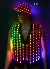 可编程舞台表演服,单点控制LED发光服