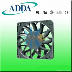 ADDA AS12025 DC 120X120X25MM cooling fan for telecom cabinet