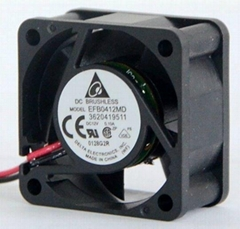 Delta EFB0412MD DC 12V 0.10A Case Fan with two ball bearing