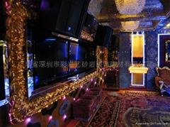 深圳市彩岩雕塑玻璃钢浮雕电镀装饰