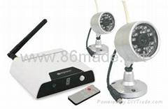 2.4GHz無線防水夜視型監控攝像套裝