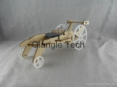 solar plywood children education DIY racing car