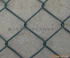 PVC包胶勾花网