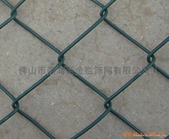 PVC包膠勾花網