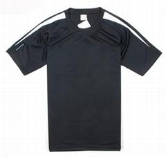 速干运动T恤涤纶网眼运动短袖T恤