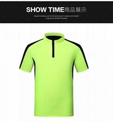 男士运动T恤锦氨速干功能面料抗菌防紫外线速干T恤