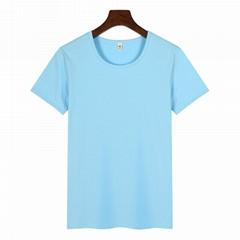 高档圆领广告衫T恤印图印字