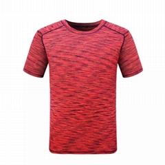 男士运动功能速干T恤衫短袖空白运动上衣