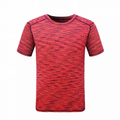 Mens Blank Sports T-shirt Short Sleeve