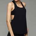 Yoga Exercise Workout Low Collar Sleeveless Vest Running Tank Top Quick Dry