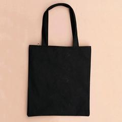 Black White Basic Single Shoulder Bag Canvas Customize Printing Shopping Bag