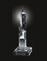 南京水晶工藝品水晶獎杯 1