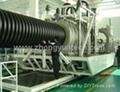 Plastic corrugated pipe processing