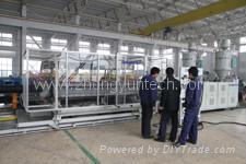 Линия для производства двустенных гофрированных труб из HDPE