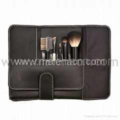 Travel cosmetic brush set