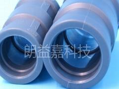 铝合金衬塑管道专用管件双热熔等径直通