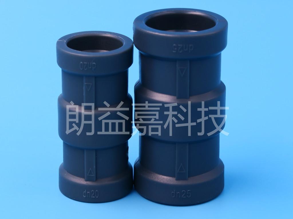 鋁合金襯塑管道專用管件雙熱熔等徑直通 3