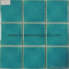 蓝色陶瓷马赛克
