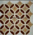 Copper coin shape glass Mosaic