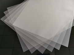 cold peeling matte 75um*48*64cm PET transfer printing film for silk screen