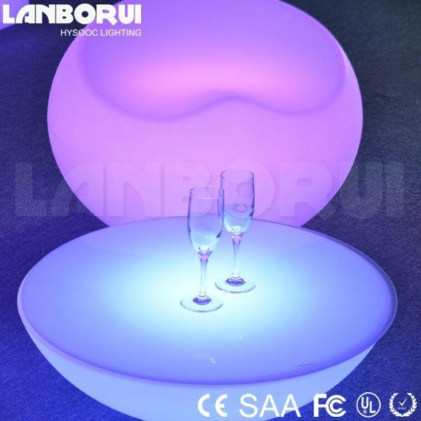 Classic luminous garden table LED light up furniture glowing LED tables 1  ... - Classic Luminous Garden Table LED Light Up Furniture Glowing LED