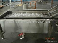 conveyor belt vegetable washing machine