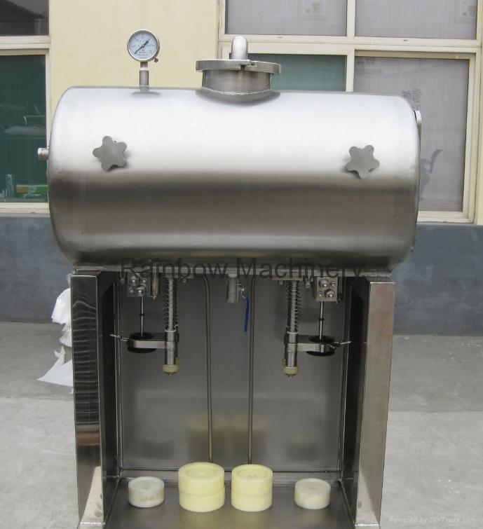 semi-automatic beer bottle filler, capper, labeling machine 2