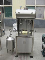 semi-automatic beer bottle filler, capper, labeling machine