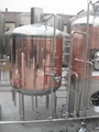 Copper 300L brewhouse equipment, mash tun brew kettle