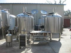 Steam heating mash tun, brew kettle