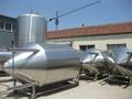 8000L Glycol jackets beer fermentation tanks, conical beer fermenter