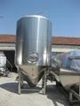 Conical fermentation tank , pilot beer fermenter