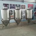 Conical fermentation tank , pilot beer