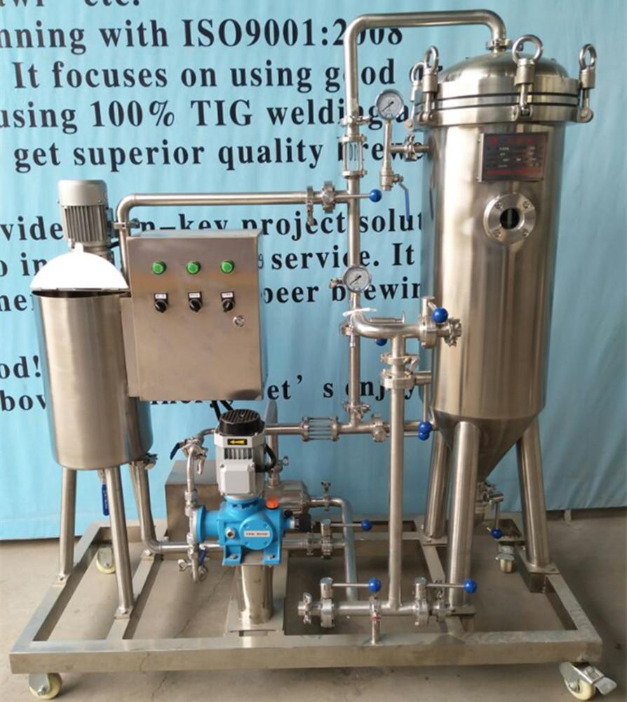 Beer kieselguhr filter machine