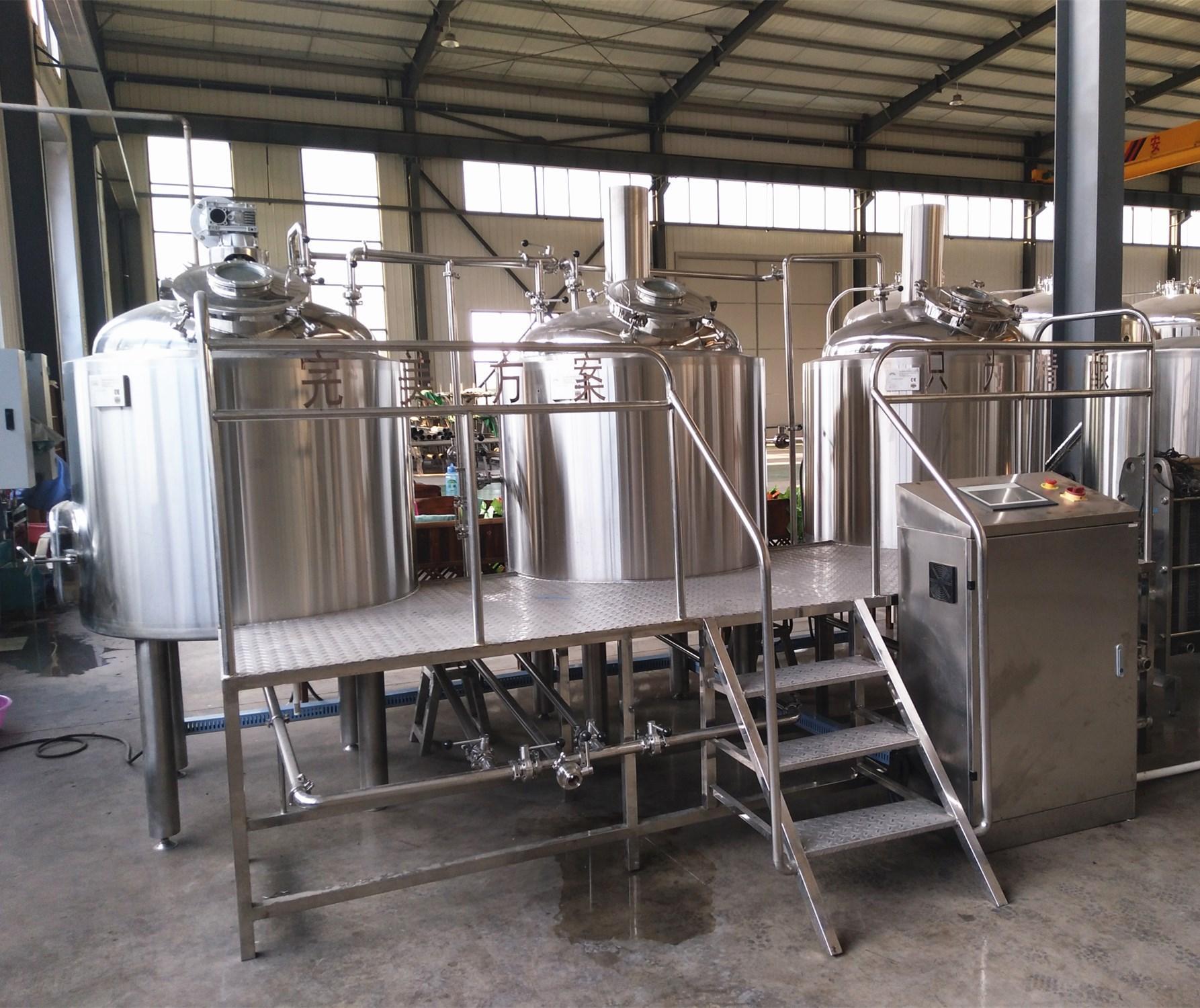 500L Hotel beer brewery equipment, craft beer making machine 1