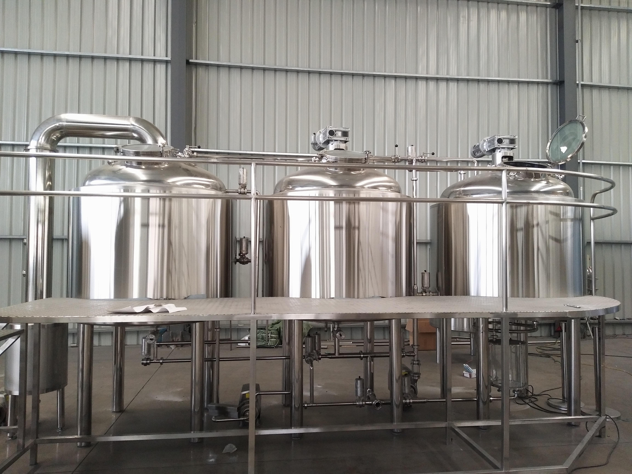 10bbl Industrial beer brewery equipment/turnkey brewing plant 3