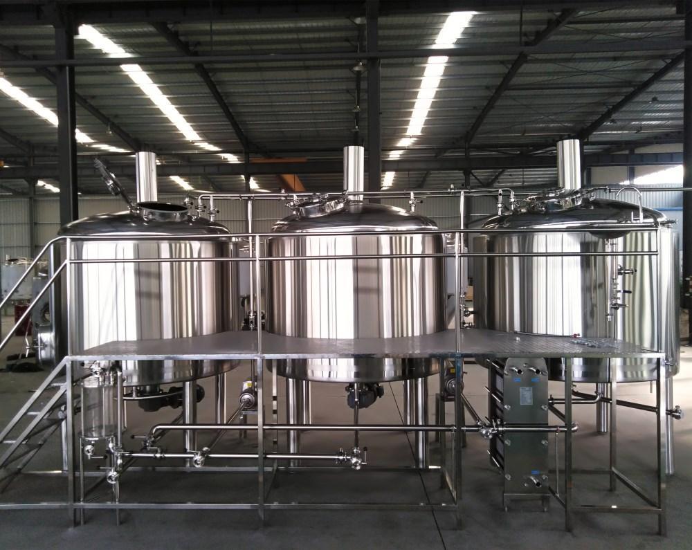2500L Turnkey brewery plant, beer brewing equipment, beer machine