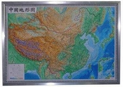 中國地形模型